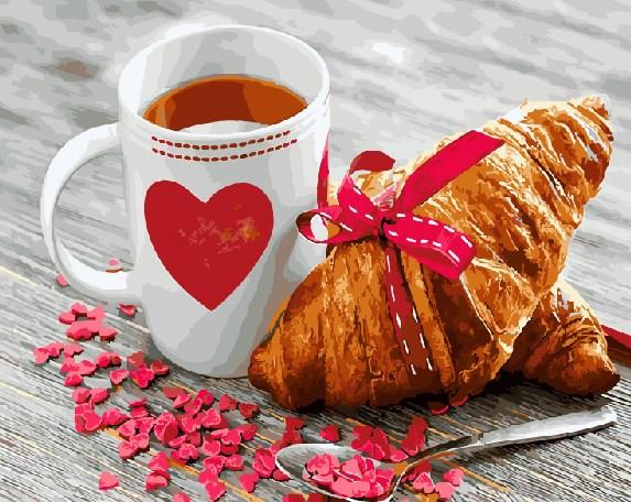 Картина по номерам GX 21709 Завтрак с любовью 40*50